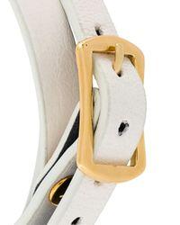 McQ - White 'razor' Triple Wrap Bracelet - Lyst
