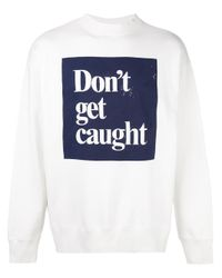 Roundel London White 'don't Get Caught' Sweatshirt for men