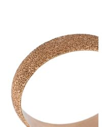 Carolina Bucci - Metallic Florentine Finish Flat Sparkly Ring - Lyst
