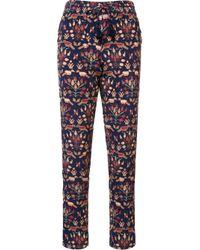 Figue | Blue - 'kerala' Pants - Women - Silk - Xs | Lyst