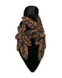 Sanayi 313 - Black Embellished Slippers - Lyst