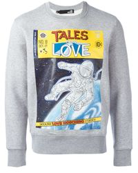 Love Moschino Gray 'tales From Love' Sweatshirt for men