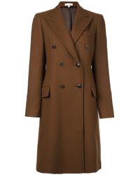 Boglioli | Brown Double Breasted Coat | Lyst