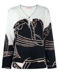 Tory Burch | White 'trocadero' Blouse | Lyst