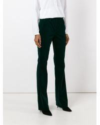Sonia by Sonia Rykiel Green Velvet Effect Flared Trousers