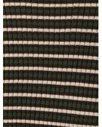 P.A.R.O.S.H. - Green Striped Fine Knit Jumper - Lyst