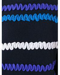 KENZO - Blue Textured Jumper - Lyst