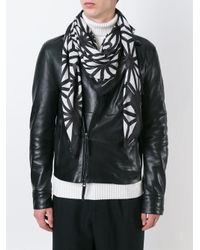DSquared² - Black Pattern Knit Scarf for Men - Lyst