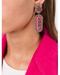 Shourouk - Pink 'moodz Love' Clip-on Earrings - Lyst