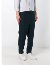 AMI Blue Carrot-fit Trousers for men