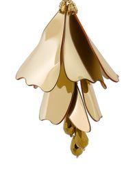Oscar de la Renta - Blue Petal Effect Earrings - Lyst