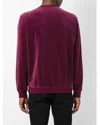 Adidas Originals Multicolor Velour Crew Sweatshirt for men
