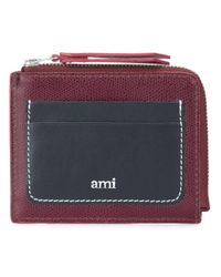 AMI Red Colour Block Wallet for men