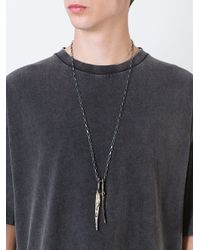 Lost and Found Rooms - Metallic Tooth Effect Pendant Necklace for Men - Lyst