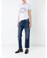 Markus Lupfer   White Lips Print T-shirt   Lyst