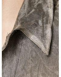 Greg Lauren Gray 'man Of Steel Studio' Shirt for men