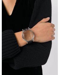 Ann Demeulemeester - Black Round Watch Frame Bracelet - Lyst