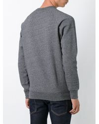 Maison Kitsuné Gray Maison Kitsuné 'parisien' Printed Sweatshirt for men