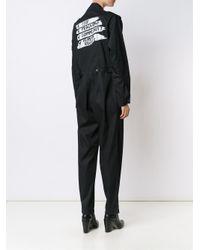 Vivienne Westwood Black Off-centre Zip Jumpsuit