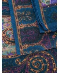 Etro - Multicolor Paisley Print Scarf - Lyst