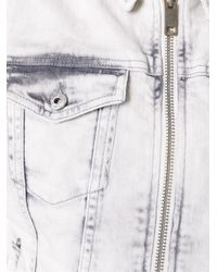 DIESEL - Sleeveless Zipped Denim (blue) Jacket - Lyst