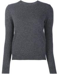 Jenni Kayne | Gray Crew Neck Sweater | Lyst
