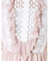 Giambattista Valli - Brown Guipure Lace Embroidered Long Dress - Lyst