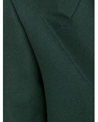 PS by Paul Smith | Green Peaked Lapel Mid Coat | Lyst