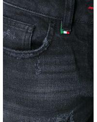 Philipp Plein Black Distressed Boyfriend Jeans for men