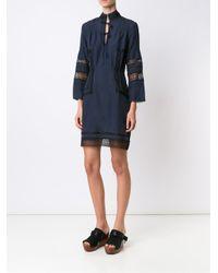 10 Crosby Derek Lam - Blue Lace Panel Dress - Lyst