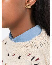 Vivienne Westwood - Metallic Orb Stud Earrings - Lyst