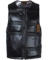 Letasca | Black Quilted Zipped Vest for Men | Lyst