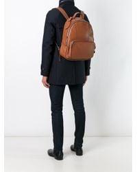 Giorgio Armani Brown Classic Backpack for men