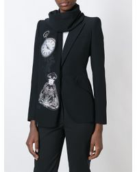 Alexander McQueen Black 'obsession' Scarf