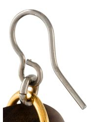 Marni - Brown Mixed Pendant Earrings - Lyst