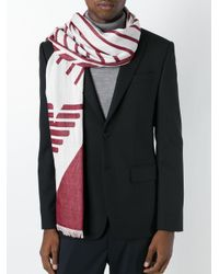 Armani Jeans | Red Patterned Scarf for Men | Lyst