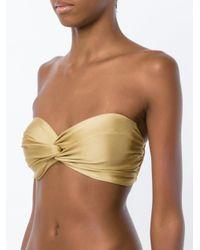 Martha Medeiros - Multicolor Central Twist Bikini Top - Lyst