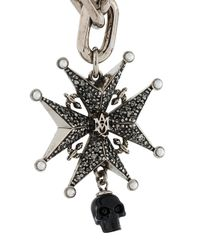 Alexander McQueen - Metallic Medal And Pearl Necklace - Lyst