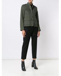 Nili Lotan - Green Cotton and Linen-Blend Cargo Jacket - Lyst