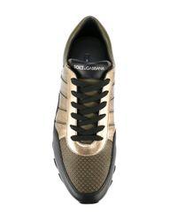 Dolce & Gabbana Metallic 'Capri' Sneakers for men