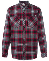 Carhartt   Gray - Plaid Button Down Shirt - Men - Cotton - S for Men   Lyst