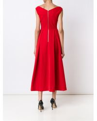 Preen By Thornton Bregazzi Black Pleated Bustier Dress