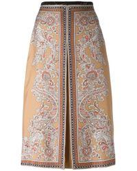 Alexander McQueen | Multicolor Paisley Box Pleat Skirt | Lyst