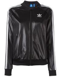 Adidas Originals - Black 'superstar' Track Jacket - Lyst