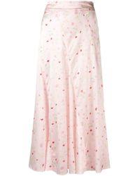 Ganni フローラル スカート Pink