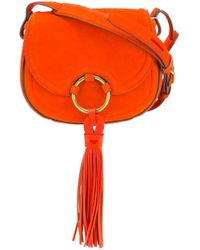 Tory Burch   Black Tassel Detail Crossbody Bag   Lyst
