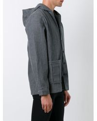 Sunnei - Gray Boxy Hooded Jacket for Men - Lyst