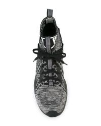 PUMA Black Elasticated Ankle Sneakers for men