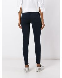 7 For All Mankind Blue Skinny Jeans