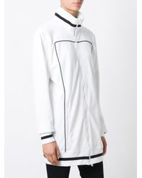 PUMA - White Contrast-Detail Zip-Up Cardi Coat - Lyst